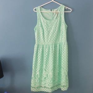 Elle mint green knit dress